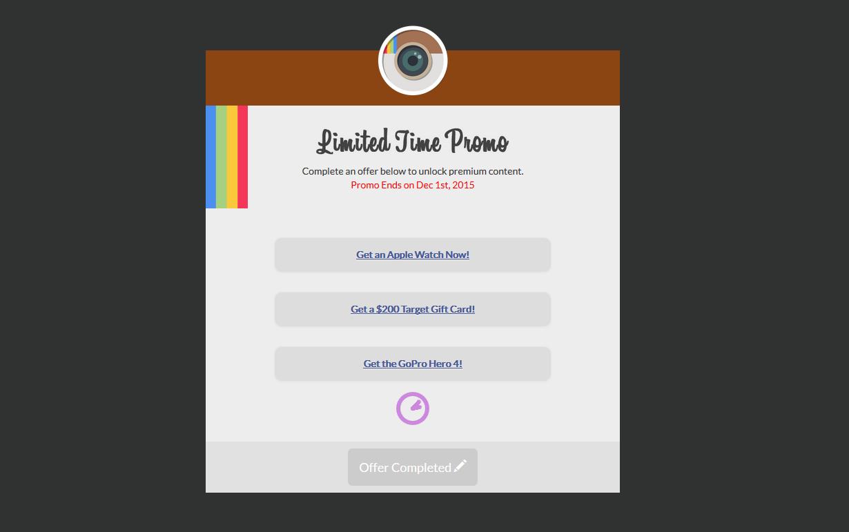 CPAGRIPTEMPLATES   Instagram Locker Landing Page Template