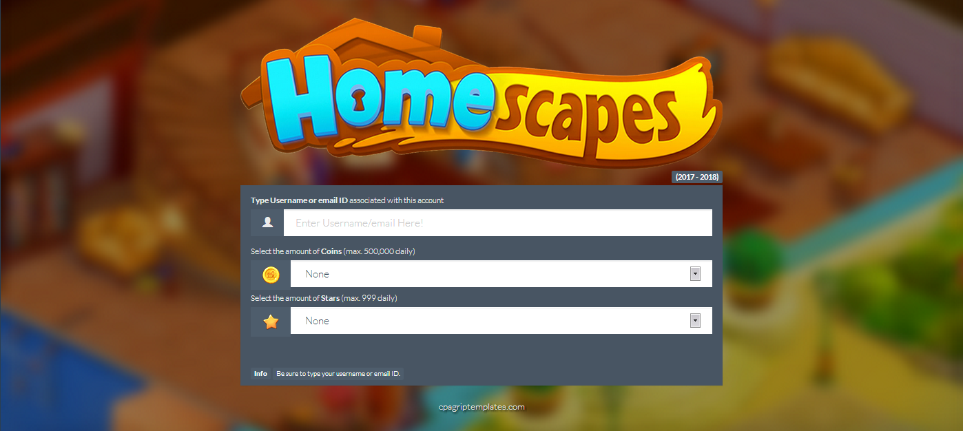 Homescapes Generator Landing Page